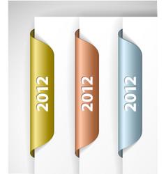 Metalic 2012 labels stickers vector