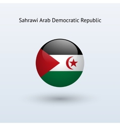 Sahrawi arab democratic republic round flag vector