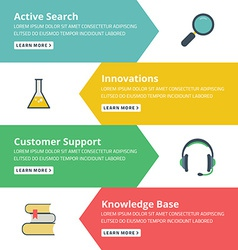 Flat design concept for search innovations support vector