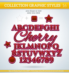 Cherry graphic styles for design use for decor vector