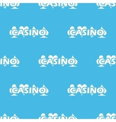 Blue casino logo pattern vector