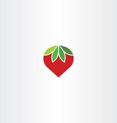 flat strawberry icon symbol vector image
