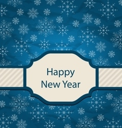 Congratulation card for happy new year vector