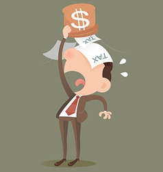 Businessman losing money vector