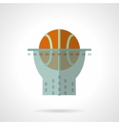 Basketball hoop flat color design icon vector