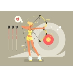 Female archer character vector