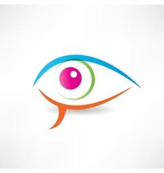 Abstract human eye icon vector