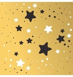 Abstract xmas golden star background design vector