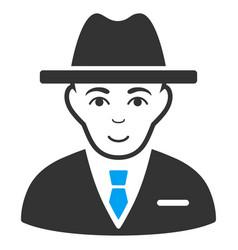 Agent flat icon vector
