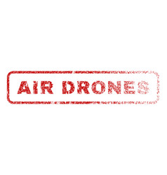 air drones rubber stamp vector image vector image
