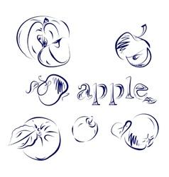 Apple Doodle vector image