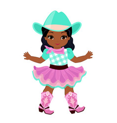 beautiful cowgirl isolated on white background vector image vector image