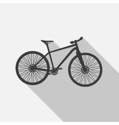 Bicycle Icon wih Long Shadow vector image vector image