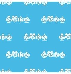 Blue casino logo pattern vector