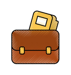business briefcase folder document office vector image
