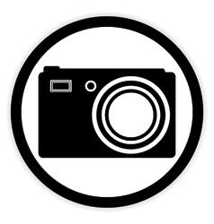 Camera button on white vector image