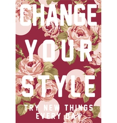 Change your style vector image