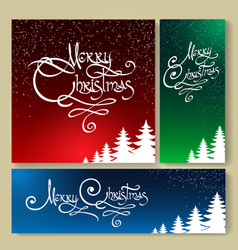 christmas holiday background set vector image vector image