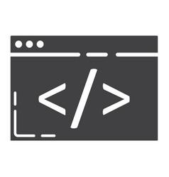 Custom coding glyph icon seo and development vector