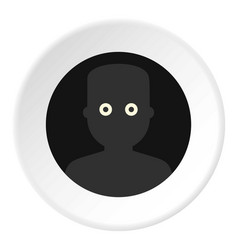 Frightened man in the darkness icon circle vector