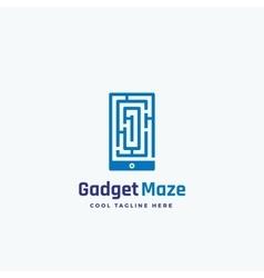 Gadget maze abstract sign emblem or logo vector