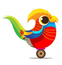 Golden pheasant cute cartoon abstract vector