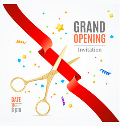 grand opening invitation card vector image