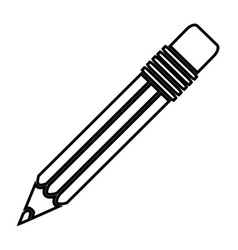 Gray contour pencil icon stock vector