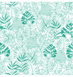 Green tropical leaves summer hawaiian vector