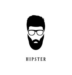 Hipster fashion man hair beards and glasses vector