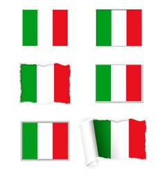 Italy flag set vector