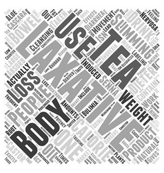 Laxatives And Weight Loss Word Cloud Concept vector image