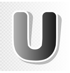 letter u sign design template element new vector image vector image