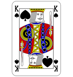 Poker playing card King spade vector image