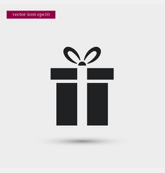 present icon simple gift winter sign vector image vector image