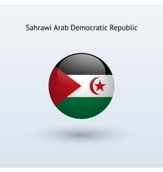 Sahrawi arab democratic republic round flag vector