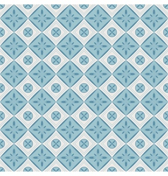Seamless pattern with geometric diamond shapes vector image