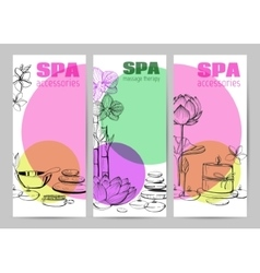 Set of hand drawn elements spa vector
