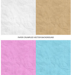 Set of texture of pink blue brown white crumpled vector