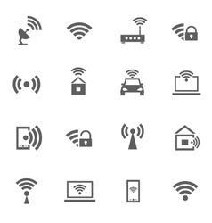 Set of wifi icons vector image vector image