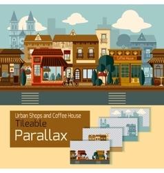 Shops Tileable Parallax vector image vector image