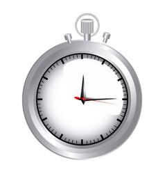Silver pocket watch icon vector