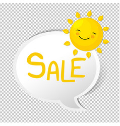 summer with speech bubble vector image vector image