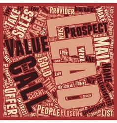 The Lie About Leads text background wordcloud vector image vector image