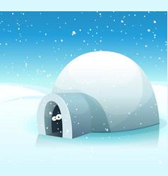 Winter is here vector