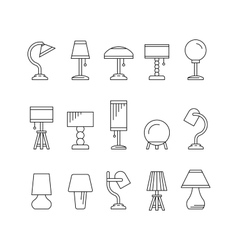 Set table lamp vector