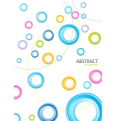 Colorful rainbow circle background vector image