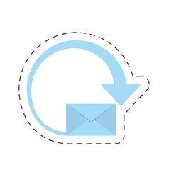 Mail envelope courier international vector