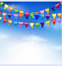 Bunting birthday flags vector