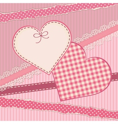 Greetings card with heart form vector image
